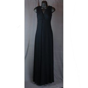 Soma Black V-Neck Crossover Jersey Knit Maxi Dress